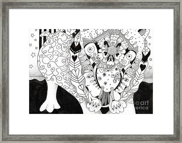 Figments Of Imagination - The Beast Framed Print