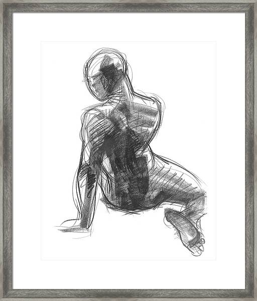 Figure Study Of The Back Framed Print