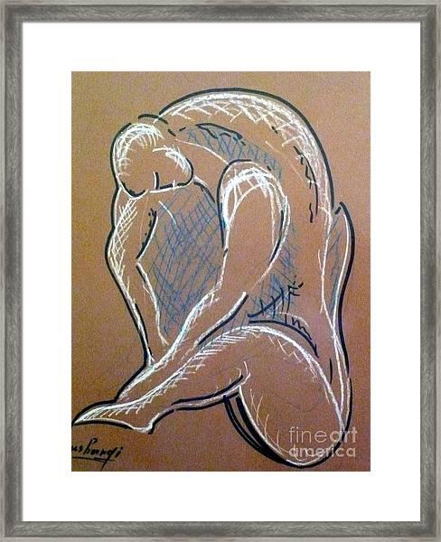 Figure Framed Print by Ushangi Kumelashvili