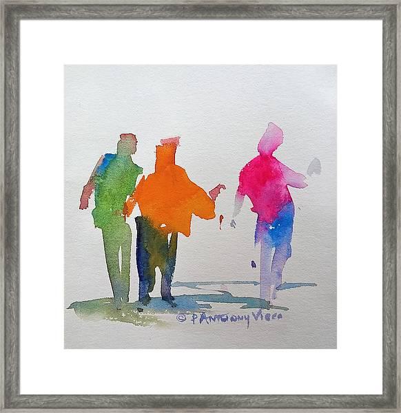 Figures In Motion  Framed Print