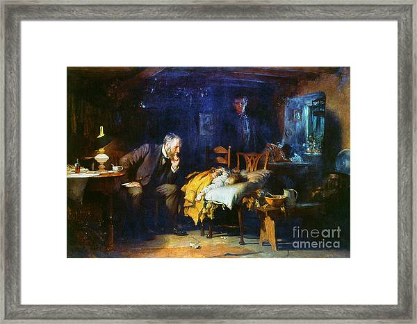 Fildes The Doctor 1891 Framed Print