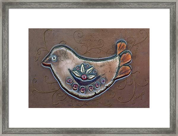 Filigree Bird Framed Print