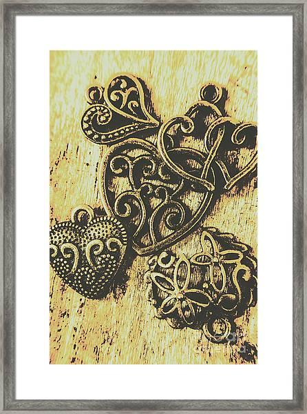 Filigree Love Framed Print