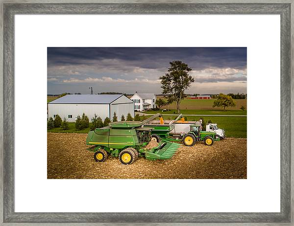 Filling Up And Emptying Out Framed Print