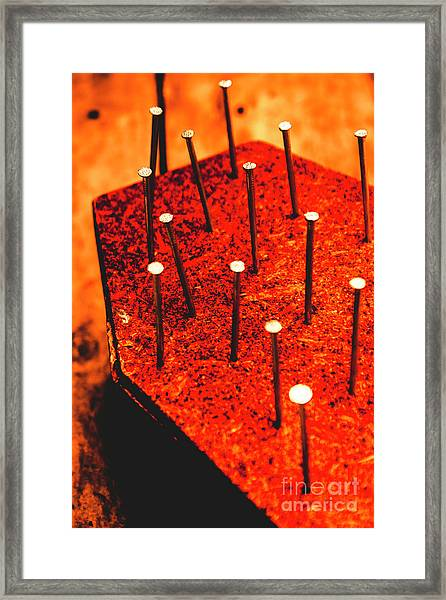 Final Nail In The Coffin Framed Print