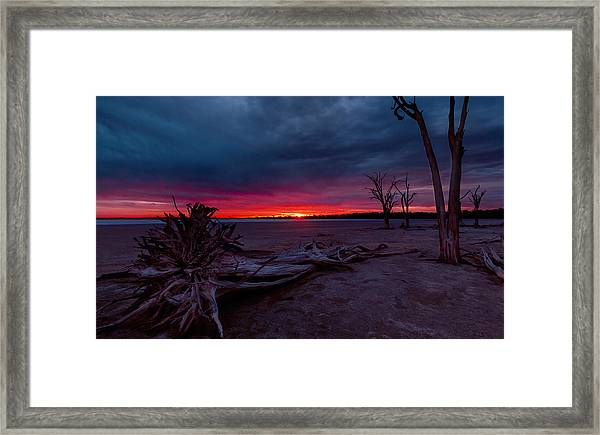Final Sunset Framed Print