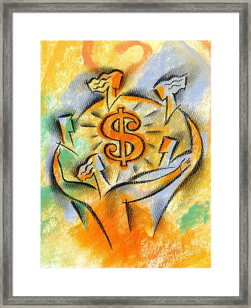 Financial Success Framed Print