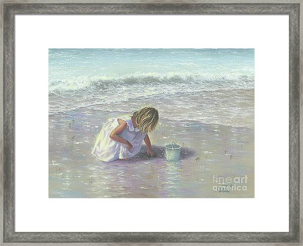 Finding Sea Glass Framed Print