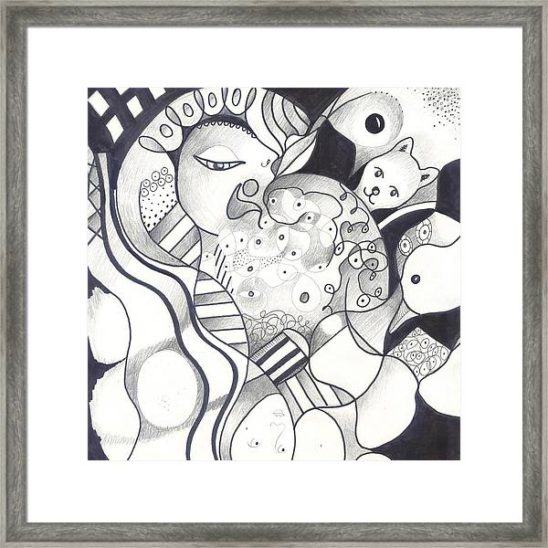 Finding The Goose That Laid The Egg Framed Print