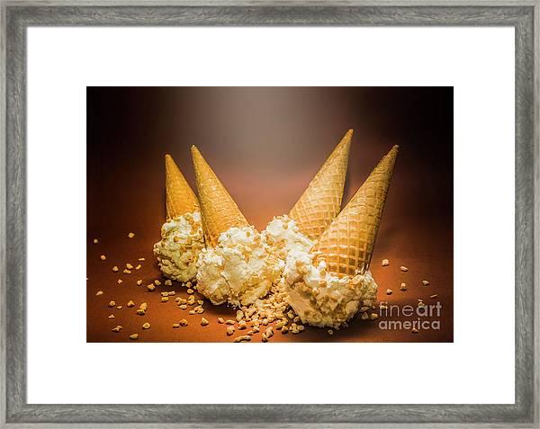 Fine Art Ice Cream Cone Spill Framed Print