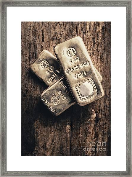 Fine Silver 999 Framed Print