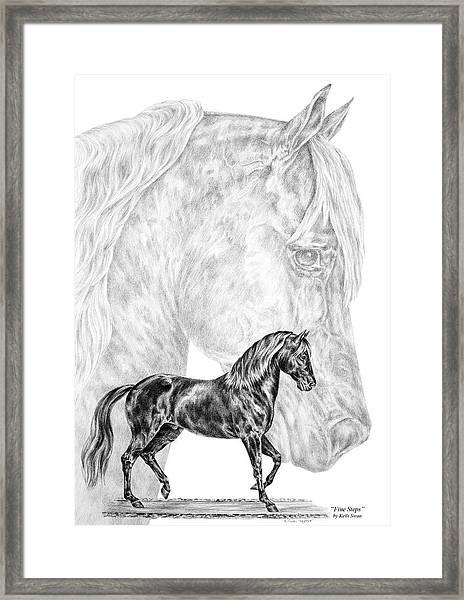 Fine Steps - Paso Fino Horse Print Framed Print