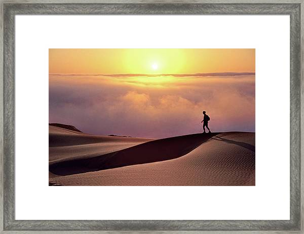 Finge Benefits Framed Print