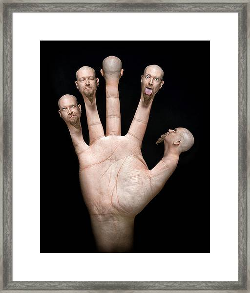 Finger Puppets Framed Print