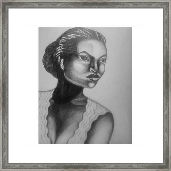 Finished My Eartha Kitt Portrait Framed Print