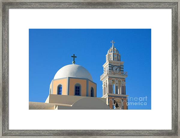 Fira Catholic Cathedral Horizontal Framed Print