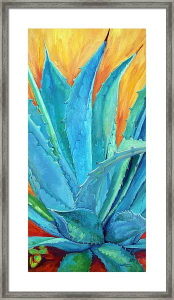 Fire And Ice 2 Framed Print by Athena Mantle