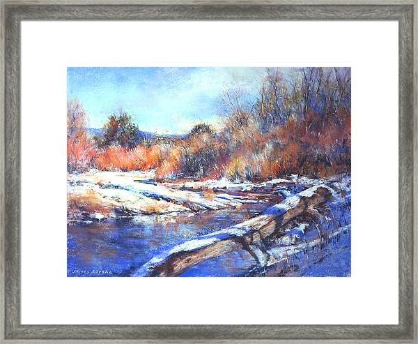 Fire And Ice Framed Print by James Roybal