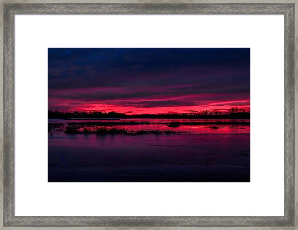 Fire And Ice Sunrise Framed Print