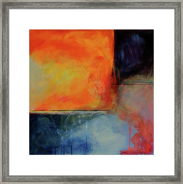 Fire And Rain Framed Print