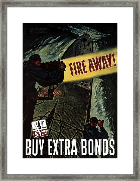 Fire Away Framed Print