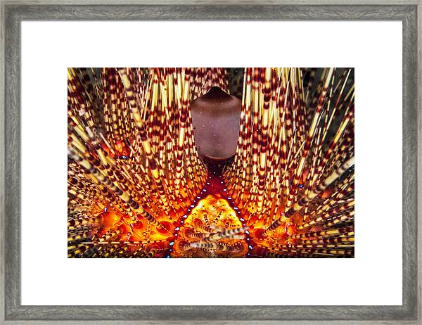 Fire Beneath The Waves Framed Print