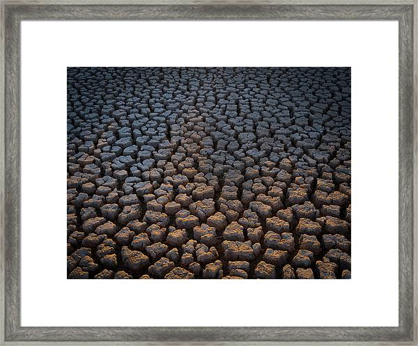 Fire Cracks Framed Print