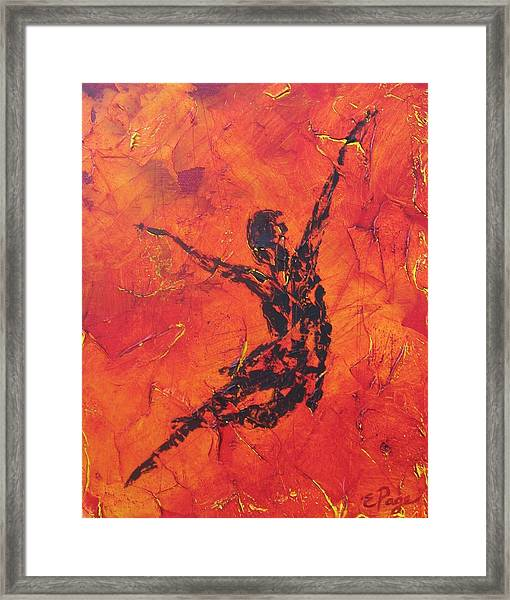 Fire Dancer Framed Print