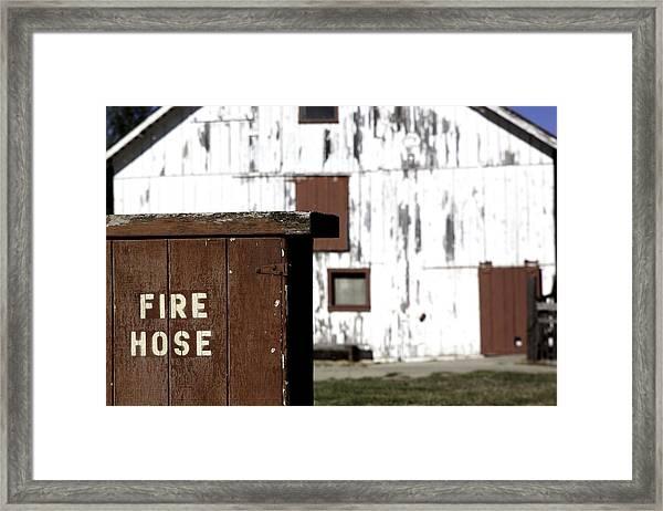 Fire Hose Framed Print