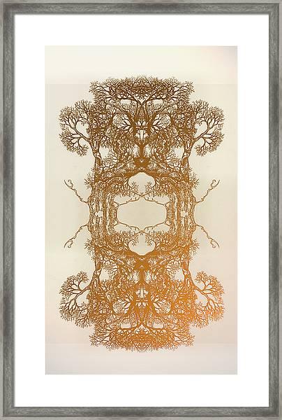 Fire In Me Tree 17 Hybrid 2 Framed Print