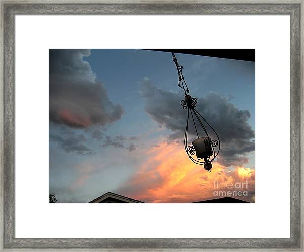 Fire In The Clouds Framed Print
