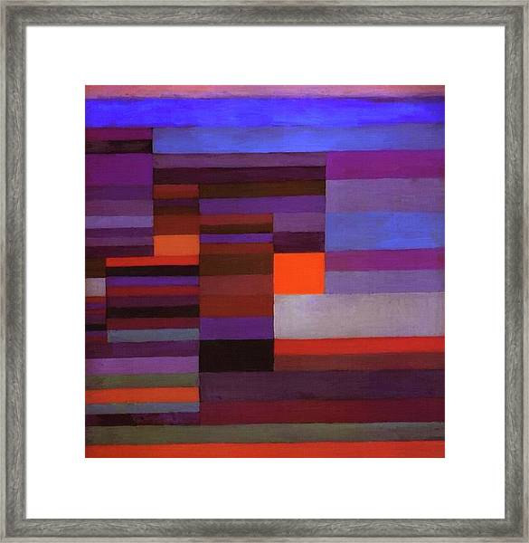 Fire In The Evening Framed Print