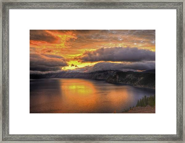 Fire In The Lake #1 Framed Print