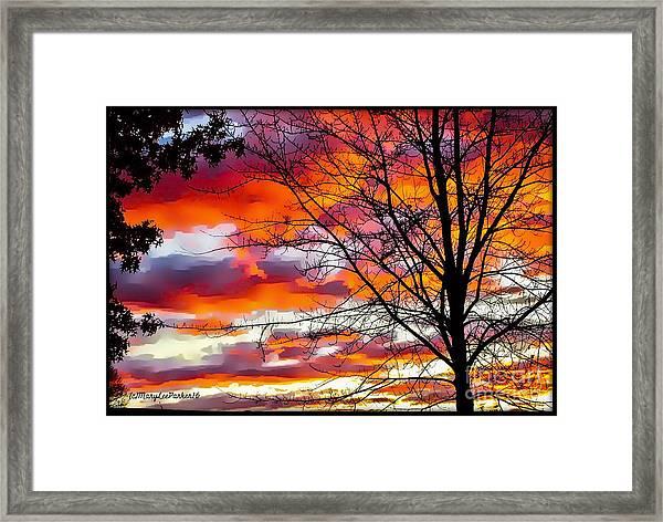 Fire Inthe Sky Framed Print