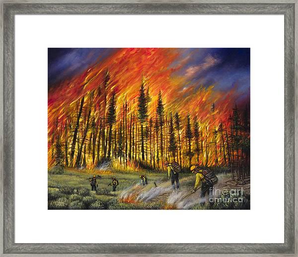 Fire Line 1 Framed Print