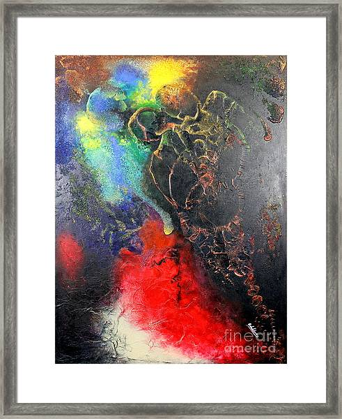 Fire Of Passion Framed Print