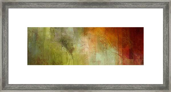 Fire On The Mountain - Abstract Art Framed Print