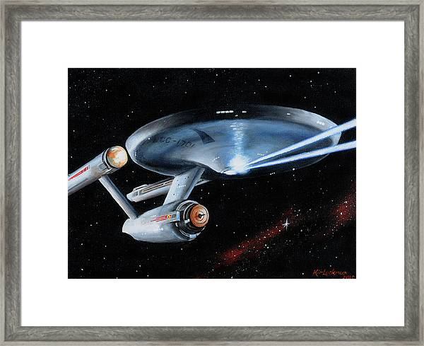 Fire Phasers Framed Print
