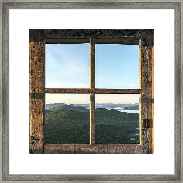 Fire Tower Frame Framed Print