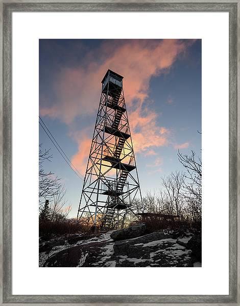 Fire Tower Sky Framed Print