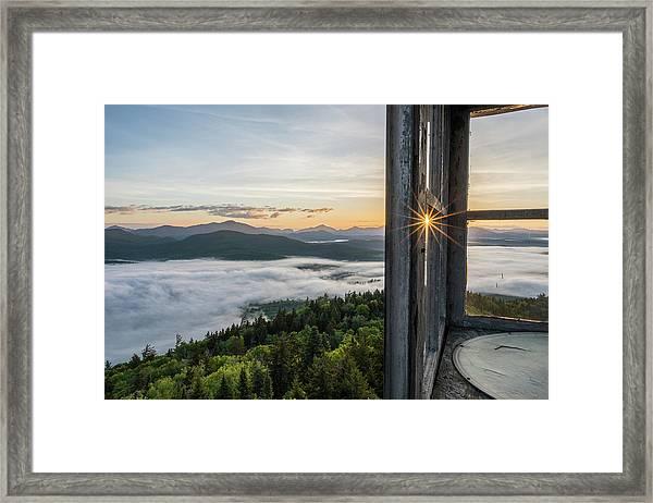 Fire Tower Sunburst Framed Print