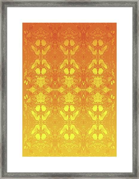 Fire Tree 11 Hybrid 2 Framed Print