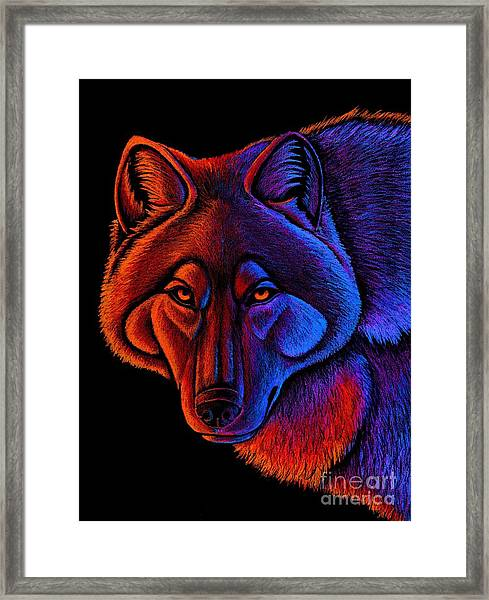 Fire Wolf Framed Print