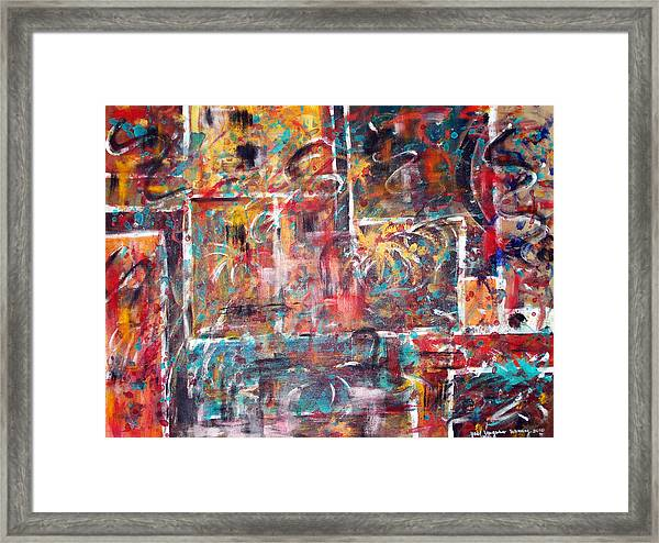 Fire Works Framed Print