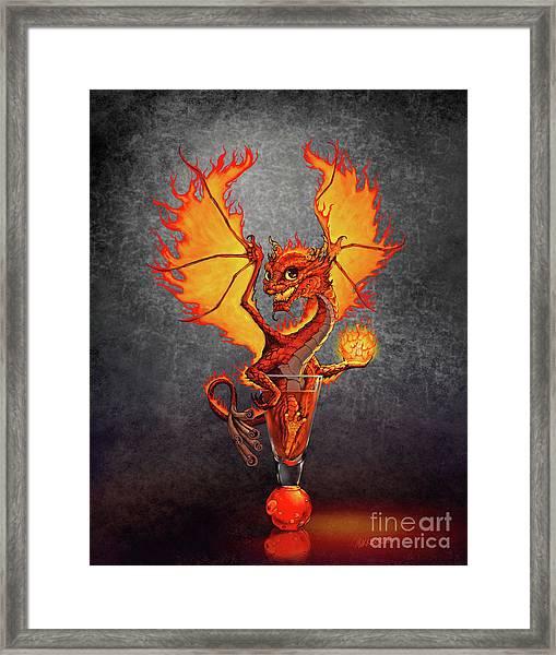 Fireball Dragon Framed Print