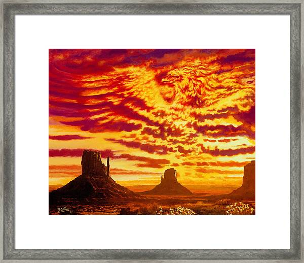 Firebird Framed Print by Brian Moore