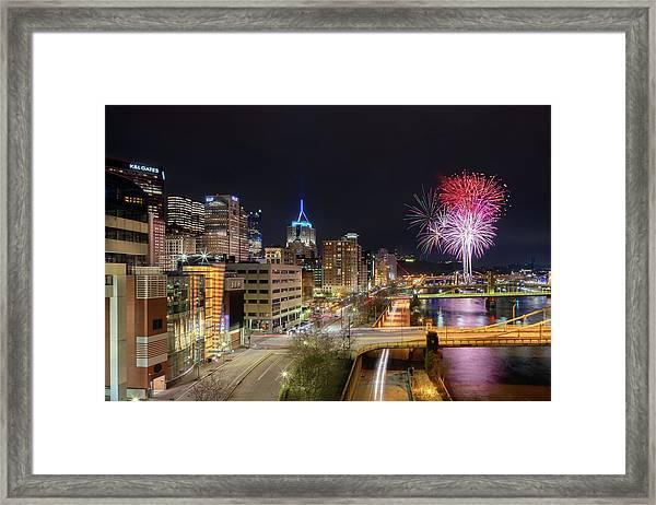 Fireworks After The Game  Framed Print