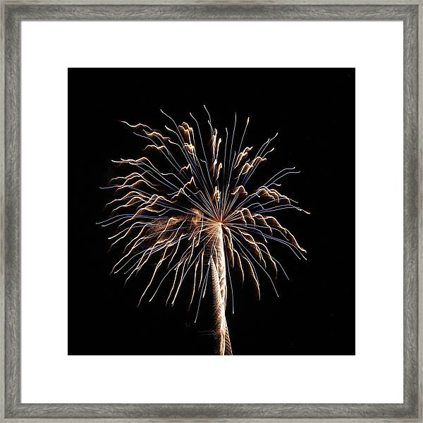 Fireworks From A Boat - 13 Framed Print