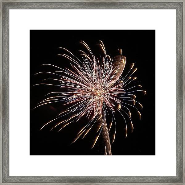 Fireworks From A Boat - 16 Framed Print