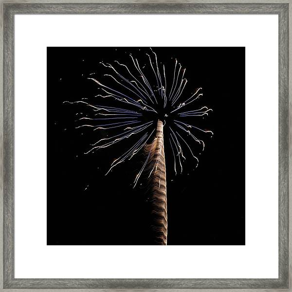 Fireworks From A Boat - 6 Framed Print